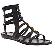 Marc Fisher Leather Gladiator Sandals w/Studs - Pritty - A266497