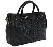 As Is Aimee Kestenberg Dani Quilted Leather Satchel - A269597