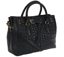 As Is Aimee Kestenberg Dani Quilted Leather Satc...