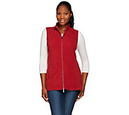 Denim & Co. Zip Front Fleece Vest with Pockets - A271397