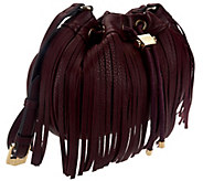 As Is Aimee Kestenberg Pebble Leather Fringe Crossbody - A275997