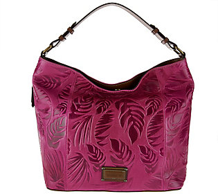 Tignanello Palm Embossed Vintage Leather RFID Hobo Bag