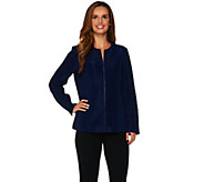 Dennis Basso Novelty Zip Front Jacket - A278697
