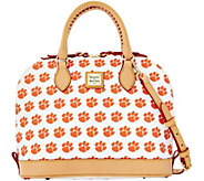 Dooney & Bourke NCAA Clemson University Zip Zip Satchel - A283197