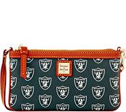 Dooney & Bourke NFL Raiders Large Slim Wristlet - A285797