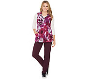 Denim & Co. Active Regular Pants and Printed Vest Set - A285897