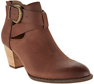 Vionic Orthotic Leather Cut-out Ankle Boots - Rory - A293697