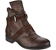 Miz Mooz Leather Ankle Boots w/ Side Zip - Storm - A296797