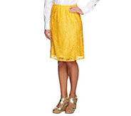 As Is Linea by Louis Dell Olio Lace A-Line Skirt - A297797