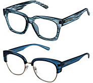 Cynthia Bailey Eyewear S/2 Readers with Case Strength 3-3.5 - A298997