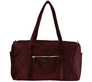 Vera Bradley Iconic Velvet Large Zip Top Travel Duffel - A300797