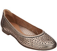 Earth Perforated Leather Slip-on Flats - Royale - A304197
