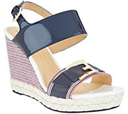GEOX Patent Leather Braided Wedges - Donna Janira - A305297