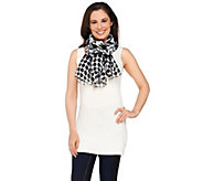 As Is Joan Rivers Graphic Mix Jacquard Scarf - A307497