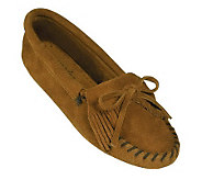 Minnetonka Suede Leather Moccasins -Kilty Softsole - A320097