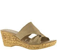 Tuscany by Easy Street Stretch Fabric Slide Sandals- Arezzo - A335197