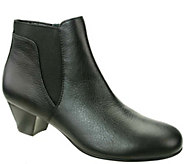 David Tate Gored Leather Booties - Culver - A338197