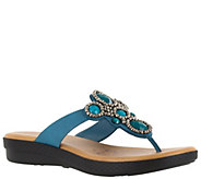Easy Street Thong Sandals - Begem - A339097