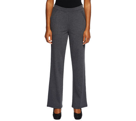 Liz Claiborne New York Ponte Knit Trouser Pants with Pockets