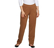 George Simonton Regular Pull-on Ponte Knit Pants w/ Seam Detail - A226898