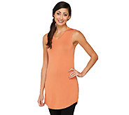 As Is LOGO Layers by Lori Goldstein Curved Hem Tank with V-neck - A234398