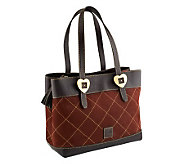 Dooney & Bourke Quilted Nubuck Leather Shopper - A238898