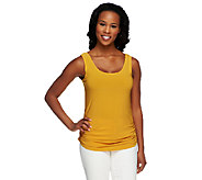 Attitudes by Renee Side Ruched Knit Tank - A241098