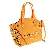 B. Makowsky Perforated Saffiano Mini Tessa Leather Tote - A252298