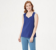 Denim & Co. Essentials Knit Tank Top with Seaming Detail - A252698