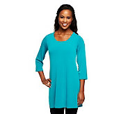 As Is Susan Graver Essentials Liquid Knit 3/4 Sleeve Tunic - A254498