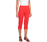 Denim & Co. Active Petite French Terry Slim Leg Capri Pants - A254898
