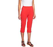 Denim & Co. Active Petite French Terry Slim Leg Capri Pants - A254898