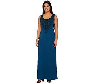 Lisa Rinna Collection Sleeveless Printed Knit Maxi Dress
