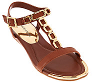 Marc Fisher Leather Sandals w/Chain Details - Mikaela - A266498