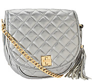 As Is Isaac Mizrahi Live! Bridgehampton Quilted Lamb Leather Bag - A267798