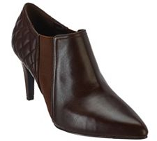 Isaac Mizrahi Live! Leather Booties with Quilting Detail