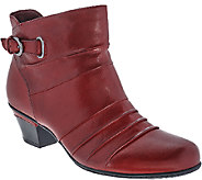 Earth Leather Pleated Ankle Boots - Crusade - A270098
