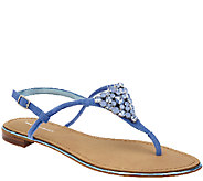 As Is Marc Fisher Jeweled Thong Sandals w/ Backstrap Rady II - A270398