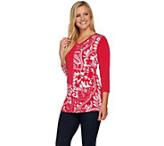 Susan Graver Printed Liquid Knit Tunic - A277798