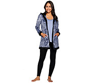 Carole Hochman Micro Fleece Winter Print 3-Piece Pajama Set - A279498