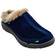 Ryka Faux-Fur Clog Slip-ons - Azure - A281098