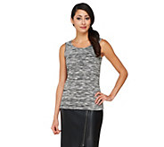 As Is Joan Rivers Heathered Knit Tank - A281998