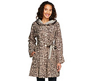 As Is Status by Star Jones Reversible Coat with Pleated Hood - A287198