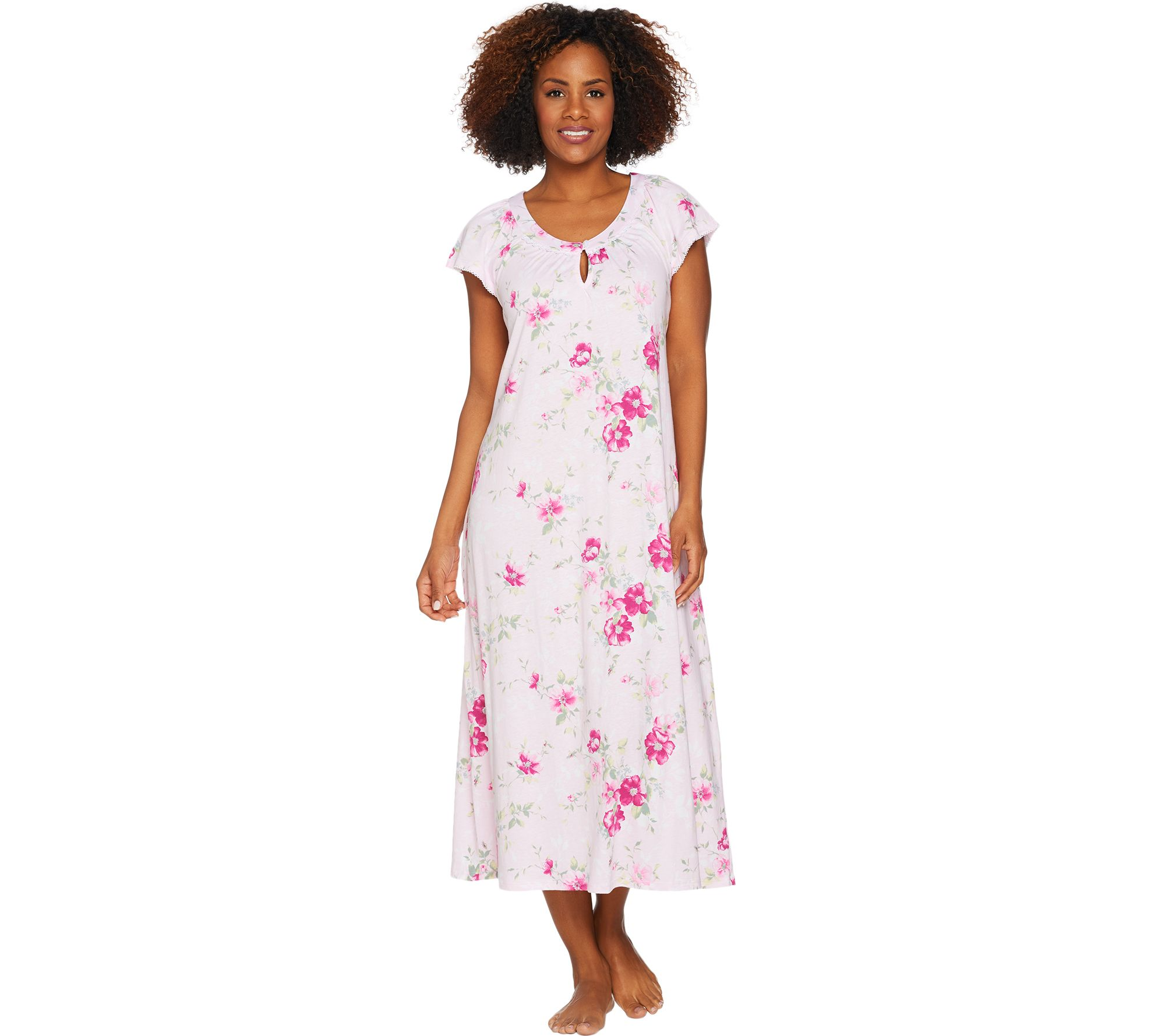 Carole Hochman Ultra Jersey Blooming Meadow Long Gown - Page 1 — QVC.com