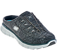 As Is Skechers Heathered Jersey Bungee Mules-Synergy - A289498