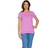 C. Wonder Essentials Slub Knit T-shirt with Neck Detail - A289698