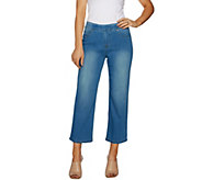 Women with Control Petite My Wonder Denim Wide Leg Crop Jeans - A290798