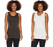 skinnytees Seamless Scoop Neck Layering Tank Set of Two - A294198