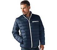 As Is NFL Dallas Full Zip Quilted Packable Polyfill Jacket - A294798