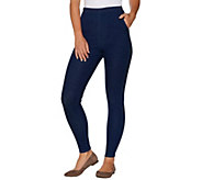 Denim & Co. Regular Pull-on Stretch Denim Legging - A295498